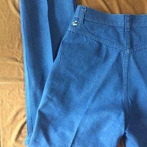 VTG 70's Ultra High Waisted Blue Jeans